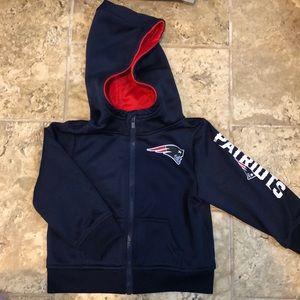 Patriots zip up hoodie